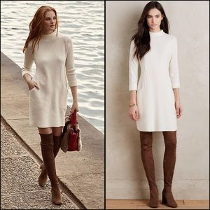 NWT Boiled Wool Mock-Neck Dress Anthropologie